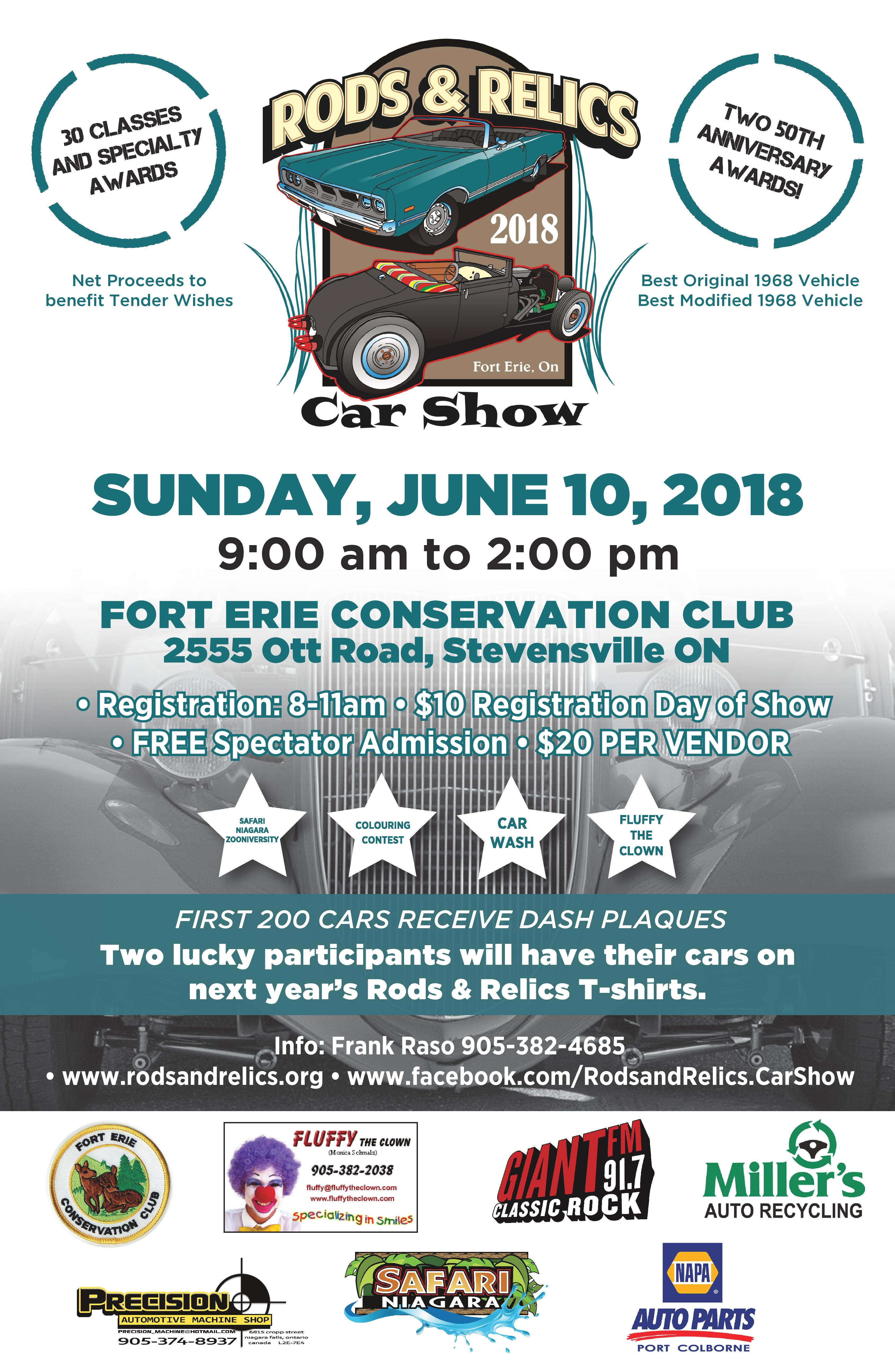 Rods & Relics Car Show Poster